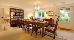 The dining room, a great place for noisy family reunions. | Crannacombe Farmhouse, South Devon | Toad Hall Cottages