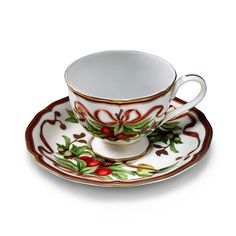 Tiffany Holiday™ cup and saucer in porcelain. | Tiffany & Co.