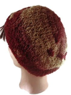 Slouchy Beanie Hand Crocheted Great Patterning by ToppyToppyKnits