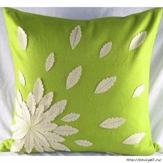 Sewing Pillows Toss this lovely pillow atop a neutral sofa for a pop of pattern, or pair it with textured throws for a layered look. - You'll love the Felt Applique Flower Felt Throw Pillow at Wayfair - Great Deals on all Décor Applique Cushions, Sewing Pillows, Felt Applique, Diy Pillows, Accent Pillows, Decorative Throw Pillows, Flower Applique, Felt Pillow, Flower Pillow