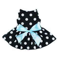 Baby Girl Dresses : Amazon.com: Fitwarm® Cute Polka Dot Ribbon Dog Dress Dog Clothes Cozy Dog Shirt Pet Dress, Medium