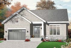 Discover the plan 3277 - Zena from the Drummond House Plans house collection. Craftsman house plan, sunken living room with fireplace, master bed with walk-in, large bathroom & laundry. Total living area of 1279 sqft.