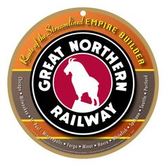 Great Northern Railroad Logo Wood Plaque / by CreativeReproduction Train Room, Train Car, Train Tracks, Train Posters, Railway Posters, Great Northern Railroad, Northern Line, N Scale Model Trains, Train Pictures