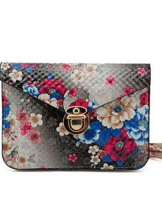 Black Floral Shoulderbag.   SALE