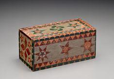 Slide-Lid Box, Pennsylvania or possibly Canada, Circa 1830,  5 x 12 x 4 inches