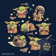 Baby Yoda Child Adventures | Shirtoid #film #geekydog #movies #razorcrest #scifi #starwars #thechild #themandalorian #tvshow