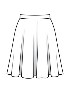 Dress Design Sketches, Fashion Design Sketchbook, Fashion Design Drawings, Fashion Sketches, Barbie Drawing, Dress Drawing, Drawing Clothes, Flat Drawings, Flat Sketches