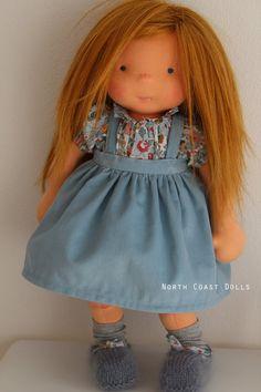 Aliénore by North Coast Dolls Sock Dolls, Doll Toys, Sewing Dolls, Doll Maker, Waldorf Dolls, Soft Sculpture, Diy Doll, Fabric Dolls, Toddler Toys
