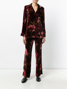 F.R.S For Restless Sleepers бархатный костюм в пижамном стиле