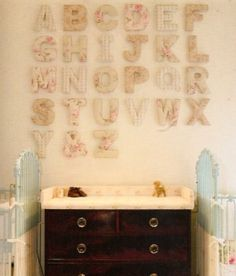 fabric covered letters by jmartin0924