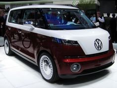 Volkswagen shows off the Bulli electric concept at the 2011 Geneva auto show.