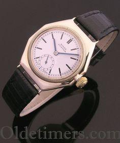 1930s 9ct gold octagonal vintage Rolex Oyster watch (3876)