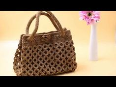 How to Crochet Bag: Circle Bag(Pattern 3) 1/3 - YouTube