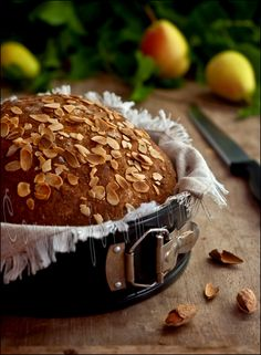 Pear Almond Bread-add Honey Butter...I feel an OMG coming on....