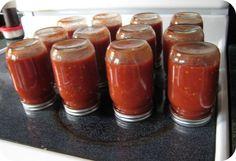 Canning spaghetti sauce w/o a pressure canner