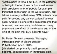 EDS is in the top 3 or 4 most severe pain problems Síndrome De Ehlers Danlos, Ehlers Danlos Syndrome Types, Elhers Danlos Syndrome, Chronic Fatigue, Chronic Illness, Chronic Pain, Ankylosing Spondylitis, Autoimmune Disease, Pain Relief