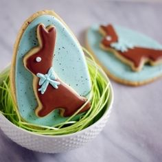 Double-decker bunnies...simple to make and TWO cookies in one!