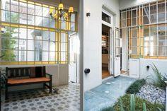 Vidrio repartido: 8 ideas para las ventanas de tu casa  En el recibidor de esta cason antigua se mantuvieron los materiales originales, pero restaurados: el ventanal que comunica con el patio y los pisos calcáreos, que fueron vitrificados.  /Archivo LIVING