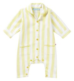 Woven Romper - Yellow Candy Stripe Piccalilly