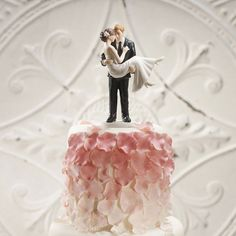 """""""Swept Up in His Arms"""" Wedding Couple Figurine ( Select From 7 Hair Colors )"""