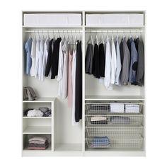 PAX Garderobeskab - standardhængsler - IKEA til soveværelset - Opbevaring af bøjletøj.