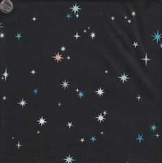 #9- Lizzy House Constellations Starry Night in Black by quiltsandwich,