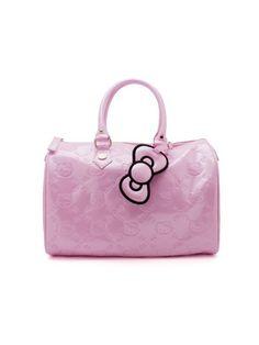 6fbbe07007ca Amazon.com  Light Pink Embossed Hello Kitty Patent City Handbag  Clothing
