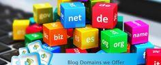 Blog Domains we Offer