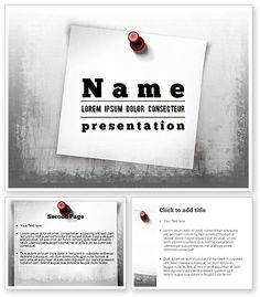http://www.poweredtemplate.com/11514/0/index.html Sticky Note on Gray Wall PowerPoint Template