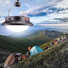 Outdoor Portable 60 LED Camping Hiking Light Tent Night Lamp Rechargeable Emergency Light