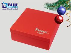 pudełko ozdobne z logo firmy - projekt i wykonanie www.BlueBrand.pl #BlueBrand #AgencjaReklamowa #reklama