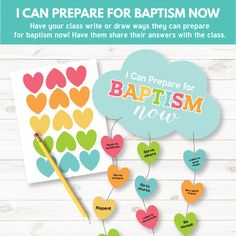 Preparing for Baptism Activity - Primary 3 Lesson 10