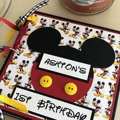 Disney Scrapbook Pages, Scrapbook Page Layouts, Baby Scrapbook, Disney Diy, Disney Trips, Disneyland Sign, Mini Photo Albums, Adventure Photos, Ocean Themes