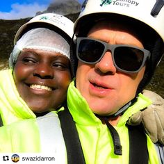 Darron and Fikile - Elgin Canopy Tour Adventure Activities, Canopy, South Africa, Summit 2017, Mens Sunglasses, Instagram Repost, Author, Boots, Shearling Boots