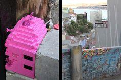 Jan Vormann cansou-se de viver em cidades cinzentas, aborrecidas e esburacadas. Para dar mais cor aos espaços, lançou o Dispatch Work e reconstrói paredes e monumentos com peças de lego.