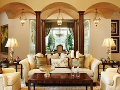 Bear's Club Residence - Living Room - Rogers Design Group - Florida