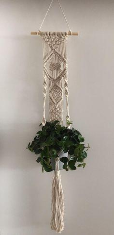 Macrame plantenhanger muurdecoratie wall hanging wall plant