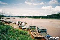 Mekong river in Houixay, Bokeo's capital