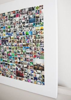 Photo Collage Picture Wall Ideas No Frames 46 Wall Collage without Frames 17 Layout Ideas Photo Wall Art, Photo Wall Collage, Photo Collages, Canvas Collage, Diy Photo, Instagram Wand, Instagram Ideas, Photo Projects, Diy Projects