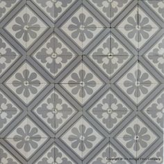12.25m2 of classical Paray Le Monial antique French ceramic tiles c.1900 - The Antique Floor Company