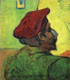 Super site pour présenter des artistes aux élèves  Paul Gauguin (Man in a Red Beret) - Vincent van Gogh