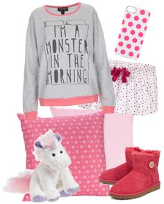"""""""I'm a monster in the morning ;)"""" by claramartellani ❤ liked on Polyvore"""