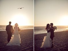 Beach Wedding Portraits - Beach Ceremony at The Sunset Restaurant - Malibu, California - Photography: www.ErichChenBlog.com