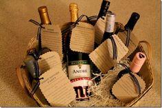 bridal shower wine basket poems - gift idea for bridal shower