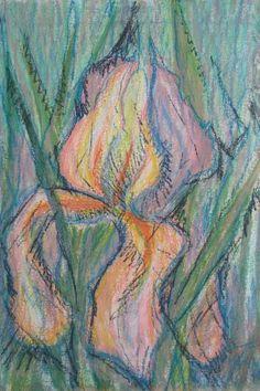 Jerzy TCHÓRZEWSKI,Irys, 1978, pastel, tektura, 78,5 x 53,5 cm