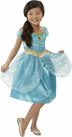 Jasmine Gem Princess Girls Fancy Dress Disney Aladdin World Book Day Costume