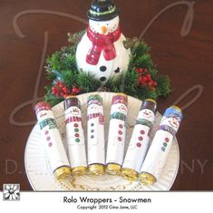 Christmas Candy Crafts, Snowman Crafts, Christmas Printables, Diy Christmas Gifts, Christmas Projects, Holiday Crafts, Christmas Holidays, Christmas Decorations, Christmas Treats