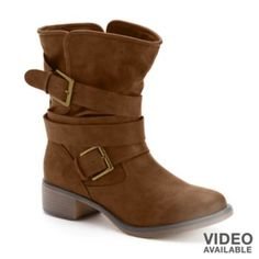Candie's Mid-Shaft Buckle Boots - Women