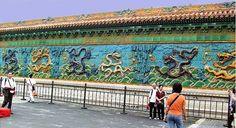 Nine Dragon Wall of Forbidden City, Beijing.