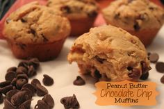 Chocolate Chip Peanut Butter Muffins   Kathy's Kitchen Table